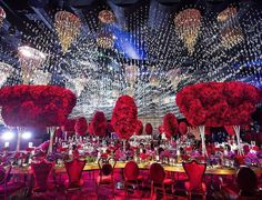 A ballroom unlike any other featuring stunning centerpieces Luxury Wedding, Dream Wedding, Engagement Gowns, Reception Party, Reception Ideas, Wedding Veils, Marry Me, Wedding Centerpieces, Wedding Designs
