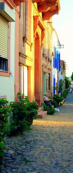A street in Cunda, Turkey
