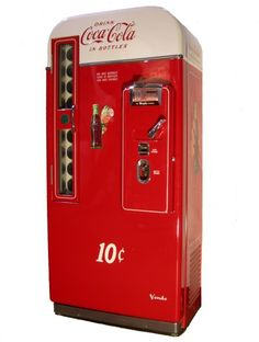 1950s Coke Machine - Model # 81 B Which means it holds 81 Bottles