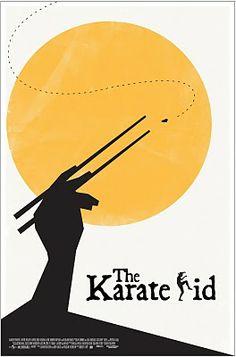 Minimal Movie Posters - Minimalist Movie Poster: The Karate Kid by Eddie Alvarez - Best Movie Posters, Minimal Movie Posters, Minimal Poster, Cinema Posters, Movie Poster Art, Kids Poster, Poster S, Famous Movies, Good Movies