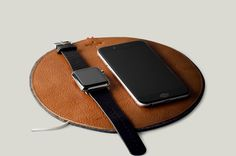 Hard Graft Apple Watch Rest Station - Tan Brown Leather and Wool Felt  Gadget Accessory. 7c1e3a9dfcdb