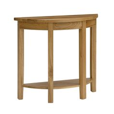 Montague Oak Curved Console Table (M017) with Free Delivery | The Cotswold Company
