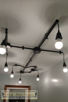 Track Lighting With Vintage Look 100 Copper Conduit Insulated Ul Ceramic Fixture For Kitchen Islands