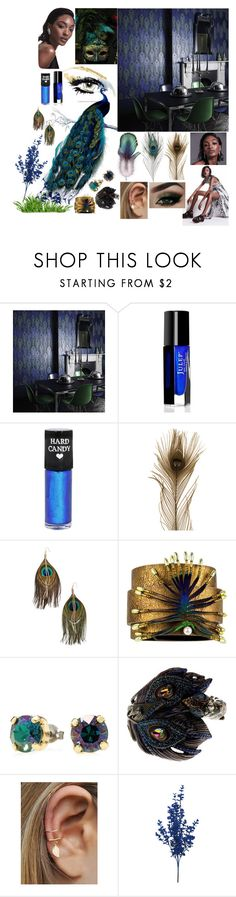 """""""My Spirit Animal"""" by reflect-n-inspire ❤ liked on Polyvore featuring beauty, GE, Osborne & Little, Hard Candy, Dunn, Serefina and Betsey Johnson"""