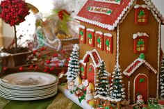 Personalized Gingerbread Manor House, handmade by The Solvang Bakery.
