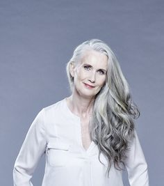 Mail reader, Nicky Griffin, 54, (pictured) chose to ditch the dye and let nature take its course. She is now modelling for a new range for women with white hair like her