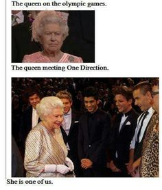 She's part of the 1D family .... I'M ROYALTY :)