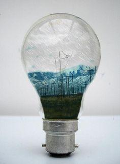 Power Lines inside a Light Bulb Photo Manipulation Light Bulb Art, Bottle Drawing, Environmental Art, Creative Photos, Illustrations, Chinese Art, Photo Manipulation, Cool Artwork, Art Pictures