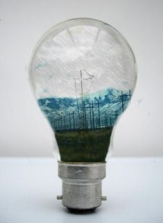 Our World in a Lightbulb Photomanipulations