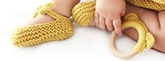 Knitted Baby Shoes - Garter Stitch Ballerinas [ EASY Pattern & Tutorial ]