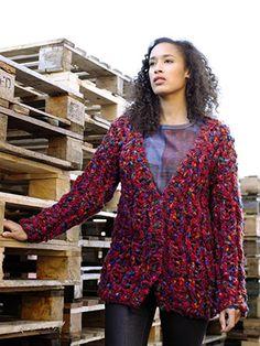 Charleston from The Big Wool Colour Collection (ZB160) 13 designs by Lisa Richardson, using Big Wool & NEW YARN! Big Wool Colour | English Yarns