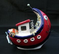 Ceramic Boat / Fischkutter Keramik