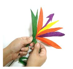 Paper Birds of Paradise flowers