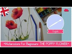 How to Watercolor Paint Poppies for Mother's Day Watercolor Flowers Tutorial, Watercolor Poppies, Watercolor Video, Watercolour Tutorials, Watercolor Techniques, Watercolor Cards, Painting Videos, Poppy Flowers, Watercolors