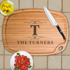 Personalized Extra Large Bamboo Cutting Board - Design 10