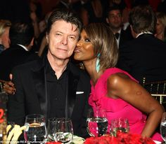 In love: Iman and Bowie pictured at a gala in New York City in April 2011. She has been le...