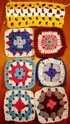 I need to learn how to crochet just so I can make hundreds of granny squares.  So lovely and useful at the same time.