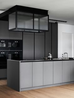 Grey kitchen ideas brings an excellent breakthrough idea in designing our kitchen. Grey kitchen color will make our kitchen look expensive and luxury. Contemporary Kitchen, Kitchen Remodel, Kitchen Cabinet Design, Modern Grey Kitchen, Grey Kitchen Designs, Home Decor Kitchen, Kitchen Interior, Interior Design Kitchen, Modern Kitchen Design