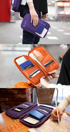 The Travel Pouch features a large and convenient compartment to store all your travel documents and other travel necessities! Travel Necessities, Travel Essentials, Travel Packing, Travel Bags, Packing Lists, My Bags, Purses And Bags, Travel Gadgets, Future Travel