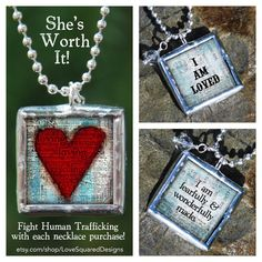 She's Worth It! $20 of every sale is donated to fight human trafficking, $28.00