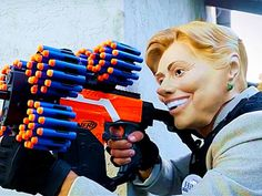 This viral video by the YouTube channel PDK Films shows Donald Trump and Hillary Clinton in an epic NERF gun fight over the presidential office. It's almost as violent as the debates!