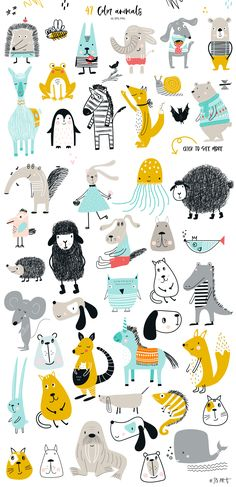 kids zoo alphabet, ABC with animals in scandinavian style, Big Kids Collection b. kids zoo alphabet, ABC with animals in scandinavian style, Big Kids Collection by JB ART on Creative Market art Big Kids, Kids Zoo, Art For Kids, Art Children, Children Pictures, Children Cartoon, Kids Clip Art, Children Clipart, Children Drawing