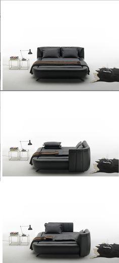 De Sede rearrangeable headboard bed