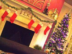 A Sigma Kappa Christmas...i wish our houses had fireplaces!