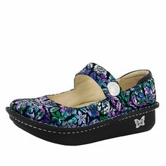 $120__ Alegria Paloma Hibiscus & Co. mary jane shoes for women