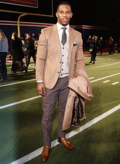 Victor Cruz Wears Tommy Hilfiger During New York Fashion Week   UpscaleHype