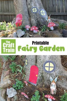 Printable fairy garden perfect for a kids gardening project or as decorations for a fairy party Creative Activities For Kids, Printable Activities For Kids, Printable Crafts, Creative Kids, Fun Activities, Crafts For Kids, Nature Activities, Summer Crafts, Outdoor Activities