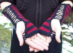 Punk Rock Corset Gloves – Free Pattern | The Running Yarn