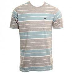RVCA Mens Knit Diffide Stripe Blue Gray