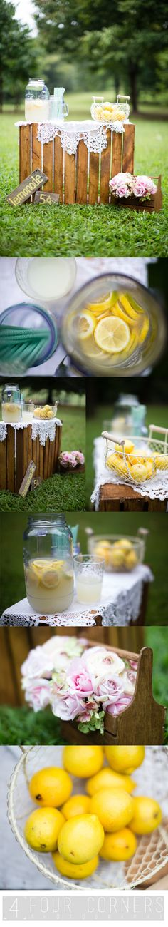Lemonade stand mini session. Photography backdrop, lemonade stand photo props. Atlanta, Ga. Photography. Four Corners Photography.
