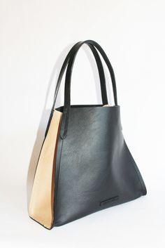 V Tote Pitch Black with Dusty Tan, The King Ranch - available @ libbylane.com
