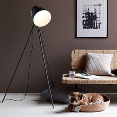 Nordlux Largo Tripod Floor Lamp - Black Nordlux Largo is an authentic tripod floor lamp with references to a stylish loft apartment in New York. This lamp provides cosy lighting in any corner of the room, or position it behind the sofa to act Wall Stickers Baby Boy, Retro, Black Floor Lamp, Floor Lamps, Exposed Brick Walls, Wall Fixtures, Vinyl Wall Decals, Frames On Wall, Wall Design