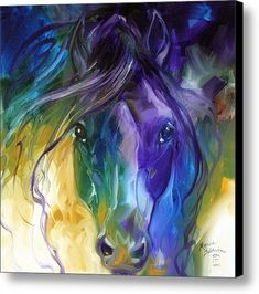 "Marcia Baldwin, ""Blue Roan Abstract"""