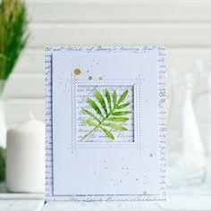 Wild Greenery, Romantic Script, stitched Peek-a-boo window die-namics My Favorite Thing #mftstamps