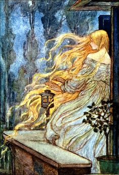 It's National Princess Day and to celebrate we've listed our favourite fearless maidens and some of their best illustrations from the Golden Age of Illustration. Illustration by Emma Florence Harrison. Art And Illustration, Botanical Illustration, Fairy Tale Illustrations, Princess Illustration, Rapunzel, Art Nouveau, German Fairy Tales, Look Dark, Classic Fairy Tales