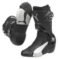 Puma - 1000blacksilver Motorcycle Riding Gear, Motorcycle Outfit, Bike Boots, Combat Boots, Puma Sneakers, High Top Sneakers, Biker Clothing, Supra Shoes, Armours