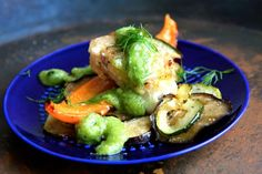 Fried cod with Mediterranean vegetables. Here's how you make it. Recipe for both babies and adults.