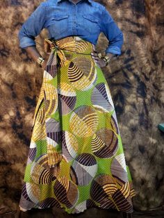 african print maxi skirt plus size   AFRICAN Wax Print Maxi SKIRTS High Waist Wrap Skirts Standard size ...