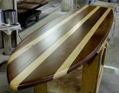 Mahogany And Maple Surfboard For Behind Someoneu0027s Tiki Bar.