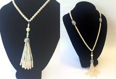 Great Gatsby inspired pearl tassel necklace!
