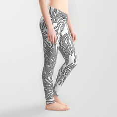 Animal Blossom Leggings by Vikki Salmela, An original had painted animal skin pattern that also took on a flower like design.Comfortable and perfect for #travel, #activewear or a cool social event.