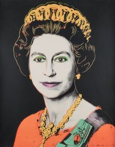 Prints : Queen Elizabeth II (from Reigning Queens) | Blouin Boutique  Andy Warhol (American, 1928-1987)  Bonhams Prints Sale  Jully 11, 2012    (Feldman & Schellmann IIB.334) The unique screenprint in colours, 1985, on Lennox Museum Board, signed and inscribed 'TP 26/30' in pencil, one of thirty trial proofs, printed by Rupert Jasen Smith, New York, published by George CP Mulder, Amsterdam, the full sheet printed to the edges  1000 x 800mm (39 3/8 x 31 1/2in)(SH)