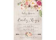 Baby Shower Invitation Girl, Boho, Rustic, Arrow, Printable Invite (457) by KirraReynaDesigns on Etsy https://www.etsy.com/listing/267565088/baby-shower-invitation-girl-boho-rustic