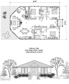 Online House Plan 1355 Sq Ft 3 Bedrooms 2 Baths Pive Solar Homessolar