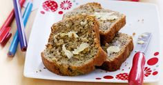 When the hungry hordes storm the kitchen, have this banana bread snack ready in the freezer to ward off hunger pangs!