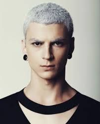 Discover the eye-catching Eliran Nargassi spring summer 2014 collection captured through the eye of photographer Miguel Mor. White Hair Men, Short White Hair, Mens Hair Colour, Hair Colors, Dyed Hair Men, Celebrity Short Hair, Celebrity Hairstyles, Mens Black Shirt, Cute White Boys